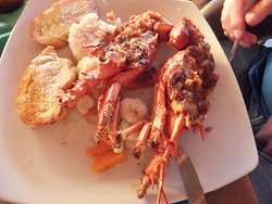 Grilled Lobster with Butter & Garlic