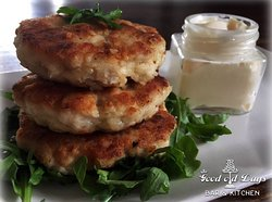 Cheesy Chicken Fritters