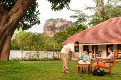 Majestic view of Sigiriya Rock Fortress (Best available from a hotel in the region)