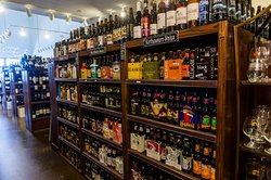 Hundreds of craft beers to choose from in our retail section