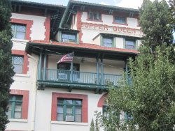 Front of hotel, you can see the balcony from this photo, here you can sit and read a book and a