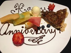 A masterful meal to celebrate our 43rd anniversary.