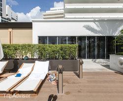 The Main Pool at the Nobu Hotel Miami Beach