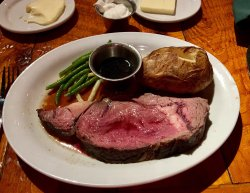 Bison Prime Rib and much more.
