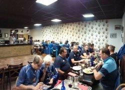 Un groupe de 34 persoones à table au Bistrot Lecoq !