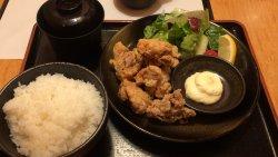 ワンコインランチ 唐揚げ定食(2017/09/28)