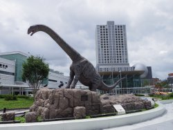 Dinosaur Station at Fukui Station