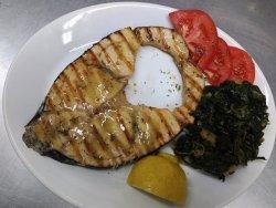 Swordfish fillet grilled