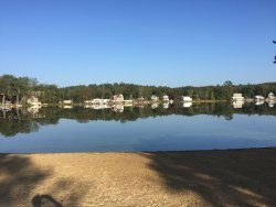 Cedar Lake located at Sturbridge Host Hotel property - view, beach, swimming, paddle boats