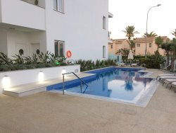 Modern design with an outstanding pool. Location not brilliant though.