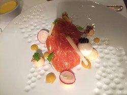 The Balmoral's Smoked Salmon, Quails Egg, Lemon, Anna Caviar
