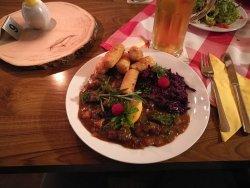Grundehrliches hervorragendes Essen deutscher Küche