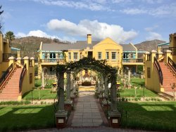 The villas.