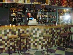 Disco Bar Azul y Blanca
