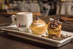 Café Gourmand, Café Espresso más dos mini postres