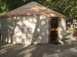 Outside view of the yurt
