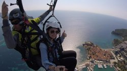 Budva Old town - exclusive Paragliding flight in Montenegro