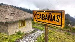 Letrero Cabañas