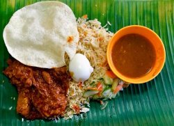 Banana Leaf Pork Briyani