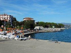 A praia mais famosa de Opatija