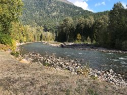 The river running through Grizzly Bear Ranch