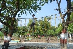 Rope bridge for kids