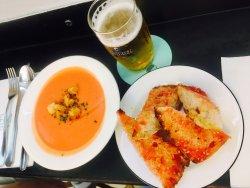 濃湯+麵包+啤酒
