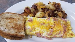Omelette Cafe Breakfast