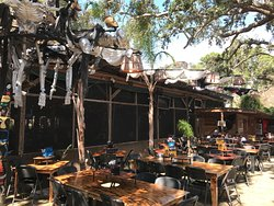 Crab Shack deck at lunch