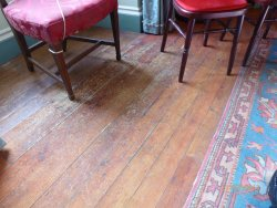Amazing - replica used to protect carpets & wooden floor. Can you spot the join? Below left chai