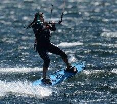 Girl On A Board Kite School