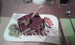 Tiramisu, große Portion, schmeckte sehr gut