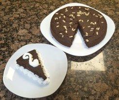 Tarta de chocolate y piñones