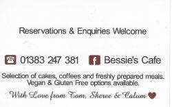 גב כרטיס הביקור של בית הקפה