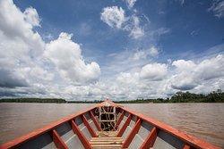 Boat ride on the Los Amigos river