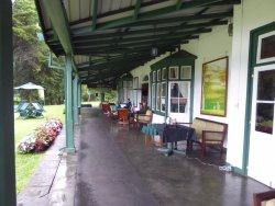 Golf club veranda