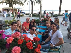 Sunset Dinner on the main promenade with our guests