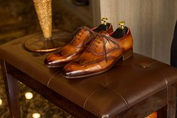 Tobacco Goodyear welted Masterpiece Wingtip