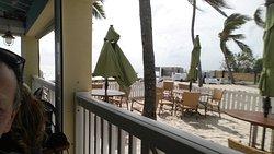Beach bar with restaurant
