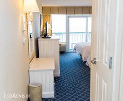 The Double Queen Room at the Hampton Inn & Suites Myrtle Beach/Oceanfront