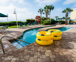 The Outdoor Lazy River Two at the Hampton Inn & Suites Myrtle Beach/Oceanfront