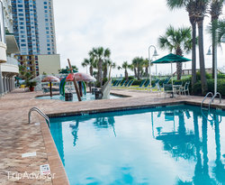 The Outdoor Pool at the Hampton Inn & Suites Myrtle Beach/Oceanfront