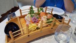 Excellent sushi and dim sum
