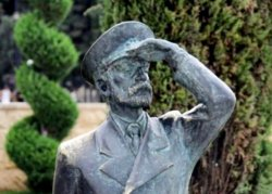 Sculpture of Sailing Captain