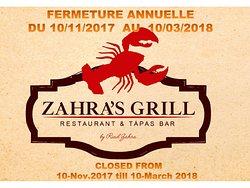 Zahra's Grill (Riad Zahra)