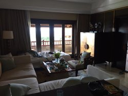 Ocean view suite, living room with extra bed