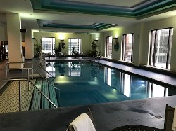 Heated 2nd floor pool overlooking the front entrance