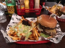 Big burgers and dirty fries!