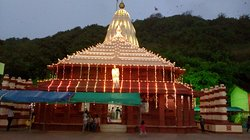 Temple - near beach, Temple's entry is on main road