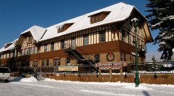 Designed to look like an alpine hotel. Make sure you visit the lobby and the museum. Fun!